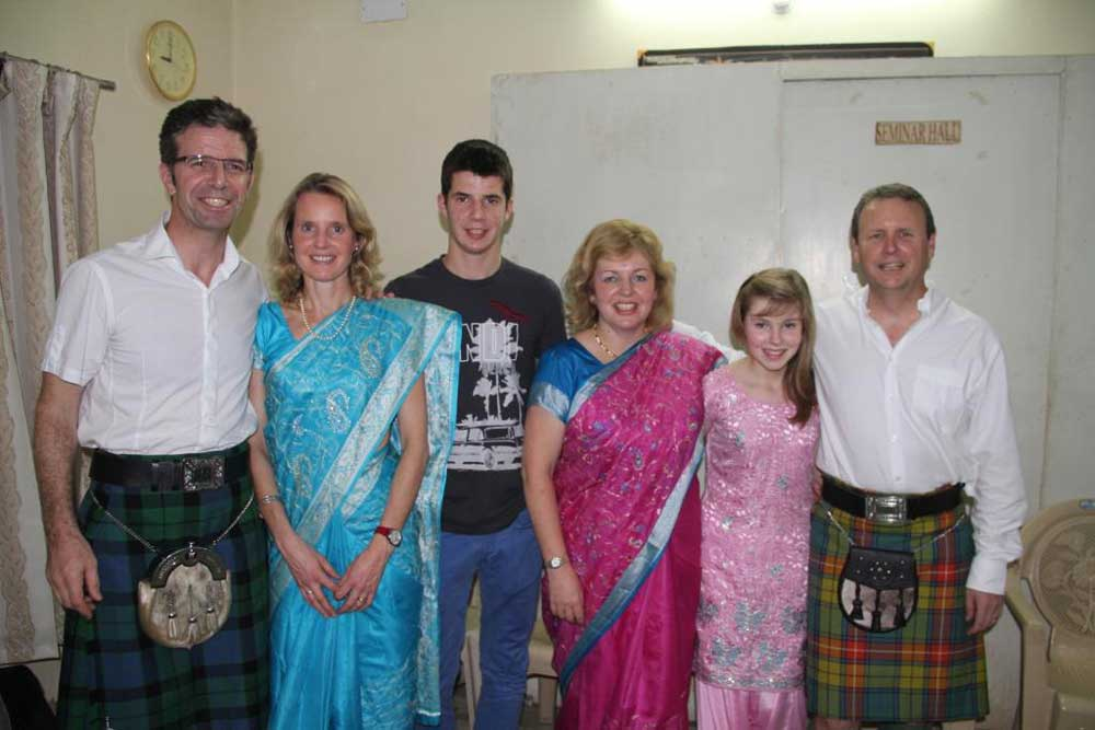 Founders of TDHCT Professor Gordon and Jackie Mackay with their son Beinn and Dr Graham and Karen Watson with their daughter Emily